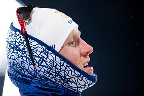 Oskar Svensson pustar ut efter en stark OS-debut där han blev femma i sprintfinalen. FOTO: Carl Sandin/Bildbyrån.