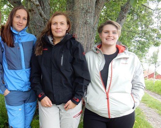 Tre unge kvinner