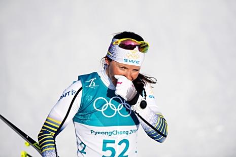 Charlotte var sliten med grejade ändå silver med klar marginal. FOTO: Jon Olav Nesvold/Bildbyrån.