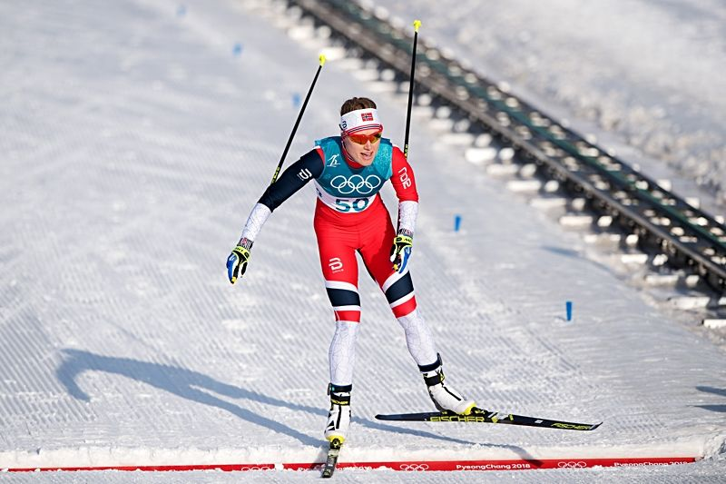 Ragnhild Haga gjorde ett kanonlopp på 10 kilometer skejt och vann OS-guld i överlägsen stil. FOTO: Jon Olav Nesvold/Bildbyrån.