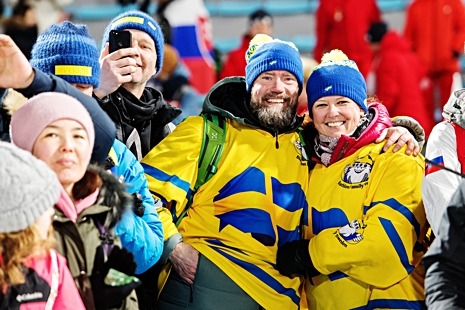 Hannas föräldrar fanns på plats och jublade från läktarplats. FOTO: Carl Sandin/Bildbyrån.