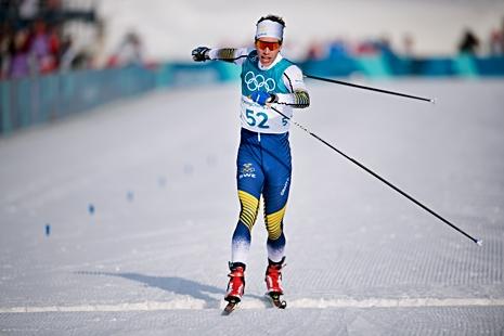 Marcus Hellner i mål som åttonde man. FOTO: Carl Sandin/Bildbyrån.