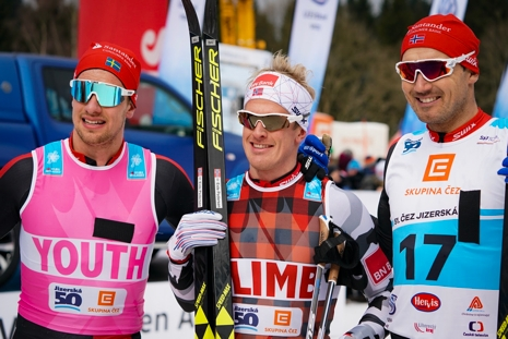 Oskar Kardin, tvåa, Morten Eide Pedersen, etta och Andreas Nygaard, trea. FOTO: Magnus Östh.