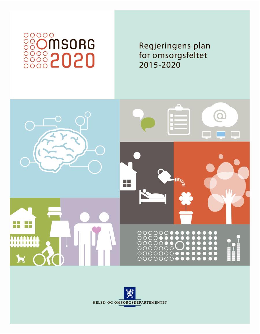 Omslagsbilde av Regjeringens plan for omsorgsfeltet 2015-2020