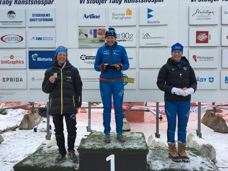 D 40-pallen: Jessica Moverare, Kristina Strandberg och Jenny Josefsson. FOTO: Ulrika Sterner.