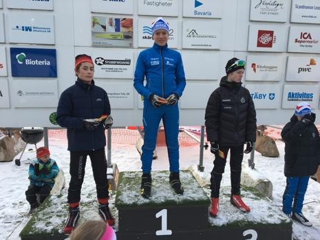 H 13-14-pallen: Arvid Ekberg, Wilhelm Sterner och Ruben Tholander. FOTO: Ulrika Sterner.