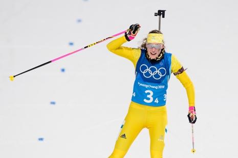 Hanna Öberg förde Sverige till ett överraskande silver. FOTO: Jon Olav Nesvold/Bildbyrån.