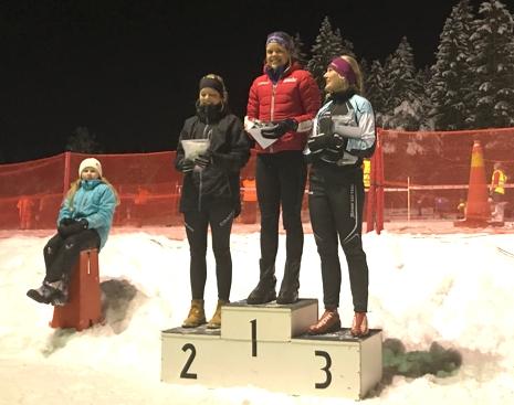 Topp tre i damklassen: Sara Karlsson, tvåa, Lovisa Modig, etta och Marika Sundin, trea. FOTO: Arrangören.