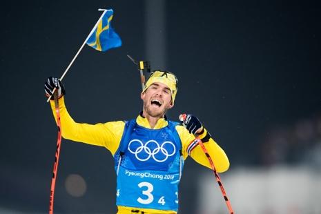 Fredrik Lindström i en känslosam målgång. FOTO: Carl Sandin/Bildbyrån.