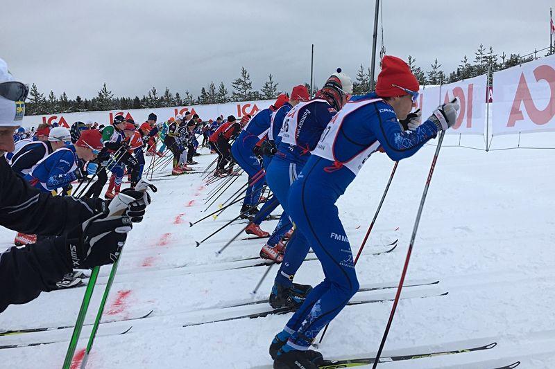 Starten på Kortvasan 2018. FOTO: Johan Trygg/Längd.se.