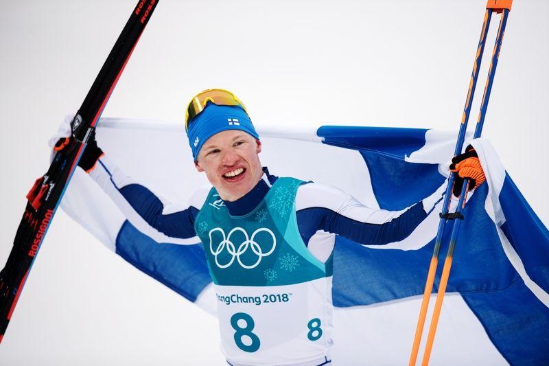 Iivo Niskanen tog Finlands första guld i PyeongChang efter en suveränt genomförd femmil. FOTO: Petter Arvidsson/Bildbyrån.