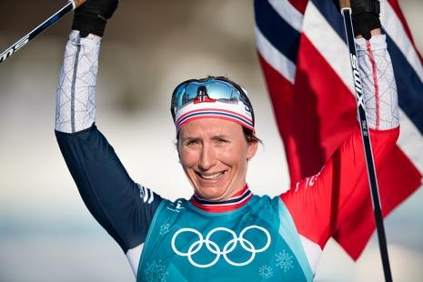 Marit Björgen är nu tidernas främste vinterolympier. FOTO: Carl Sandin/Bildbyrån.