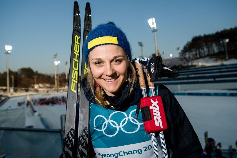 Stina Nilsson jagar totalsegern i sprintcupen när världscupen fortsätter i finska Lahtis kommande helg. FOTO: Carl Sandin/Bildbyrån.