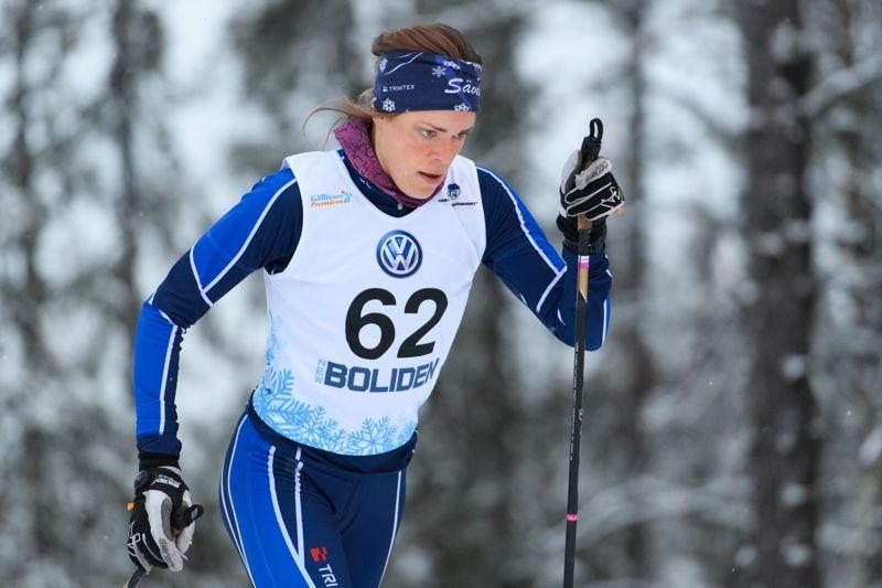 Lovisa Modig gör debut som landslagsåkare vid världscupen i Holmenkollen. FOTO: Carl Sandin/Bildbyrån.