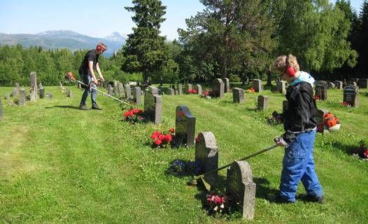 Sommerjobb på kirkegården