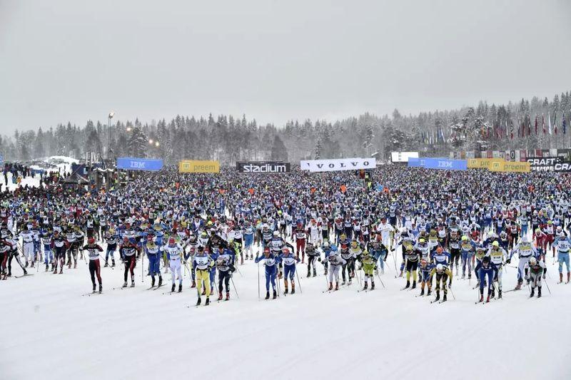 Från och med Vasaloppets sommarvecka2018 blir Enervit en av Vasaloppets fem huvudsponsorer.FOTO: Vasaloppet.