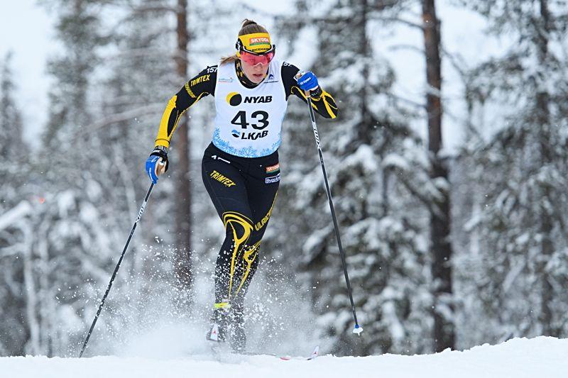 Maria Nordström vann prologen vid Scandic cup-finalen i Örnsköldsvik. FOTO: Carl Sandin/Bildbyrån.