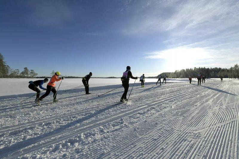 Deltagarna på Vasaloppets vintervecka åkte sammanlagt lite mer än tre miljoner kilometer på sina skidor. FOTO: Vasaloppet.