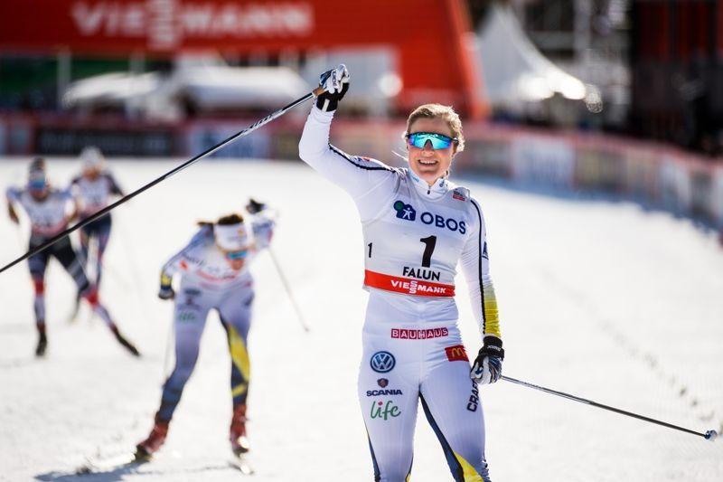 Hanna Falk vann en suverän seger på världscupsprinten i Falun. FOTO: Simon Hastegård/Bildbyrån.