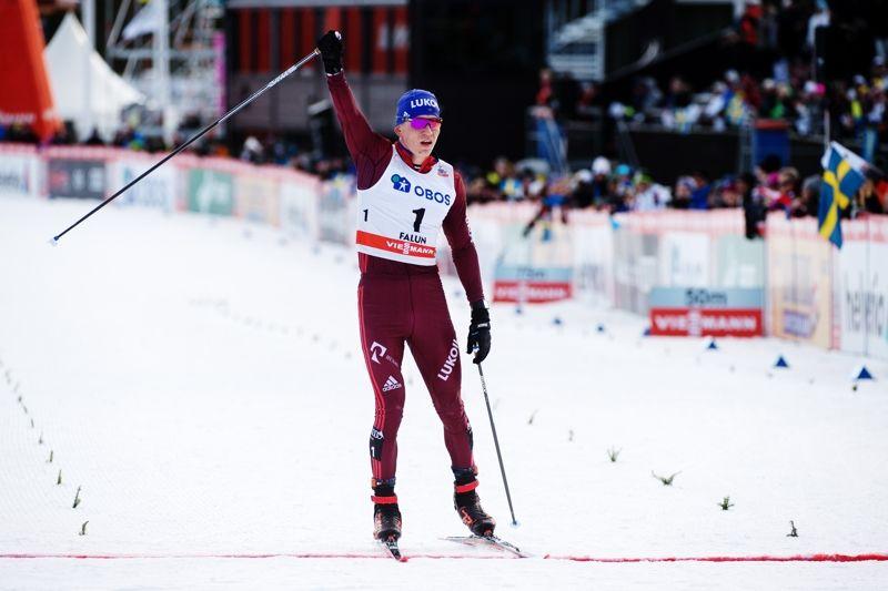 Alexander Bolshunov vann jaktstarten i Falun i överlägsen stil. FOTO: Simon Hastegård/Bildbyrån.