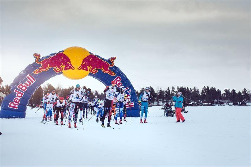 Starten på Nordenskiöldsloppet 2017. På lördag är det dags för tredje upplagan av loppet i modern tid. FOTO: Marcus Olsson/Red Bull Content Pool.