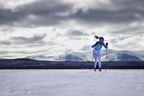 Årefjällsloppets banan passerar Ottsjön. FOTO: Årefjällsloppet.