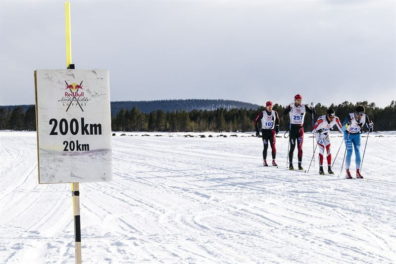 Du kan följa världens längsta längdskidlopp via en kartbaserad liveplattform. FOTO: Magnus Östh/Red Bull Content Pool.