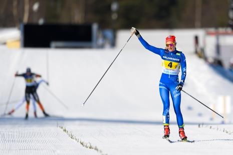 Stina Nilsson förde IFK Mora till silver. FOTO: Carl Sandin/Bildbyrån.