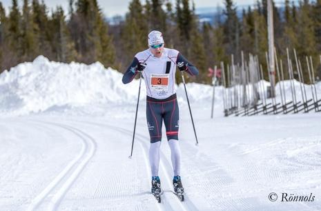 Rikard Tynell var lika ensam mot målet som tvåa. FOTO: Lars Rönnols.