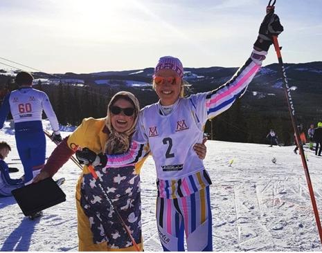 Tilda Östberg tog segern i skiddräkt av senaste snitt. FOTO: Mora skidgymnasium.