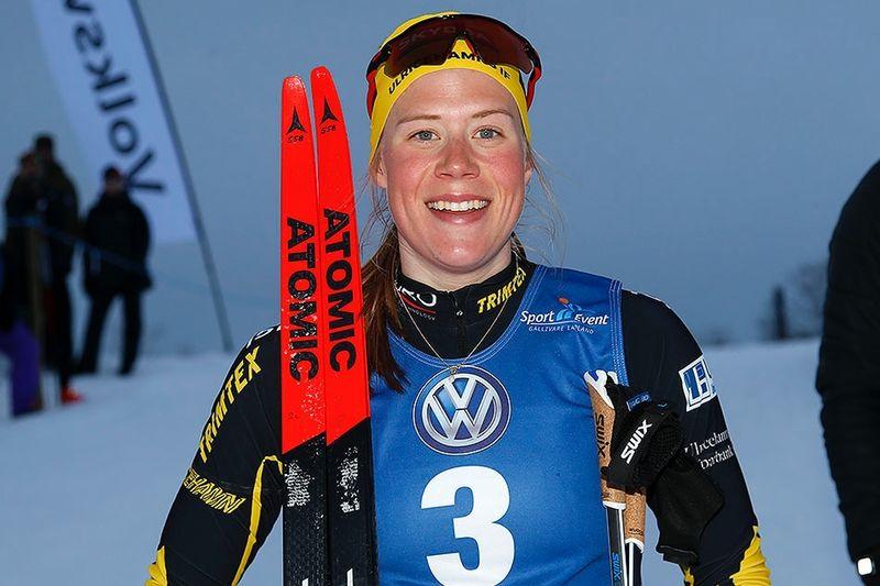 Maria Nordström vann kvällens City Sprint i Gällivare. FOTO: Yngve Johansson, Imega Promotion.