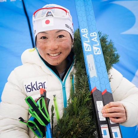 En glad Masako Ishida efter segern i Reistadlöpet. FOTO: Magnus Östh.