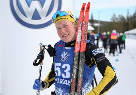 Maria Nordström har nu bra läge för en totalseger i Volkswagen Tour i Gällivare. FOTO: Mickael Renström, Imega Promotion.
