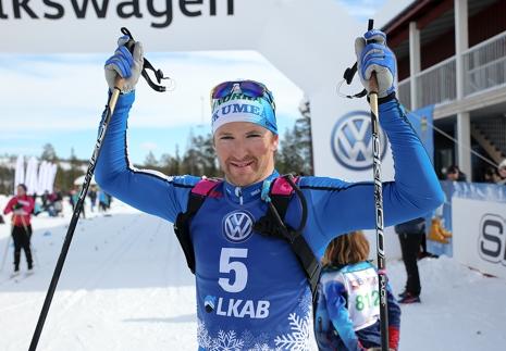 Teodor Peterson vann en tuff spurtfight närmast före Klas Nilsson och Johan Lövgren. FOTO: Mickael Renström, Imega Promotion.