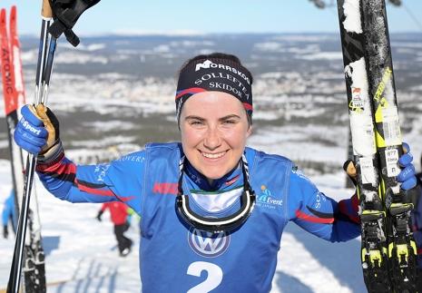 Ebba Andersson klättrade snabbast uppför Dundret. FOTO: Michael Renström, Imega Promotion.