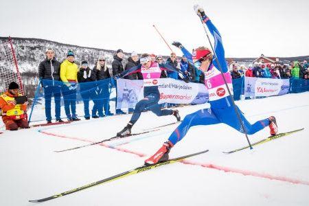 Ida Ingemarsdotter och Stina Nilsson är två av många skidstjärnor till start under Fjälltopphelgen. FOTO: Jocke Lagercrantz.