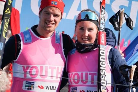 Ungdomsvästvinnarna Oskar Kardin och Evelina Bångman. FOTO: Magnus Östh.