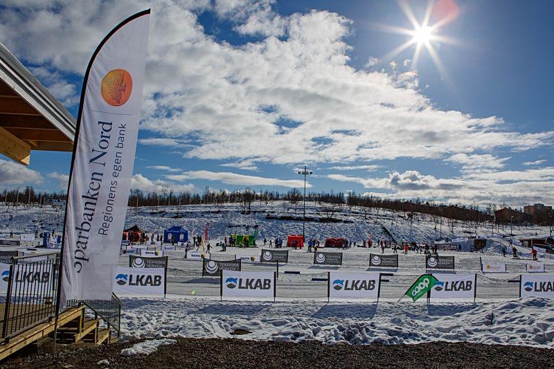 Det var fina förhållanden under Kirunaspelen och många barn och ungdomar till start under förra helgen. FOTO: Magnus Hörnström.
