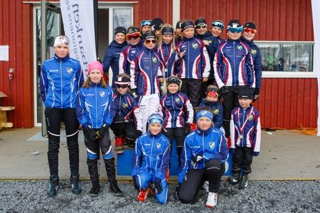 Ungdomar från arrangörsklubbarna IFK Kiruna och Jukkasjärvi IF. FOTO: Magnus Hörnström.