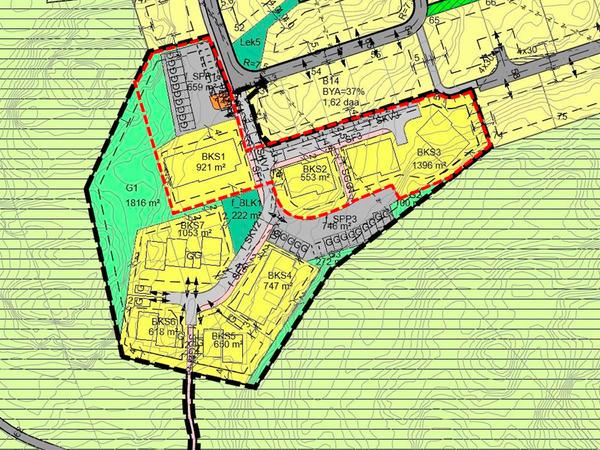 Kart over Leidlandshagen