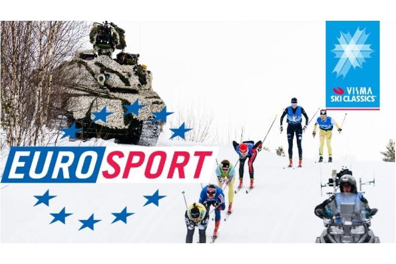 På onsdag och torsdag finns möjlighet att se höjdpunkter från vinterns Visma Ski Classics då Eurosport sänder ett program på 52 minuter.