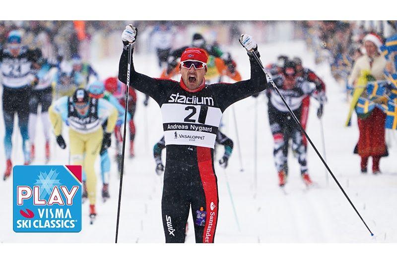 Nu kan du se Andreas Nygaards Vasaloppsseger och andra höjdpunkter från Ski Classics på Visma Ski Classics Play. FOTO: Magnus Östh.