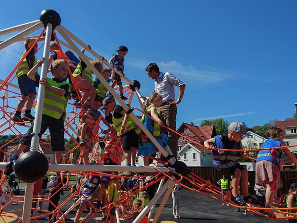 Åpning av klatreparken i Årstadalen