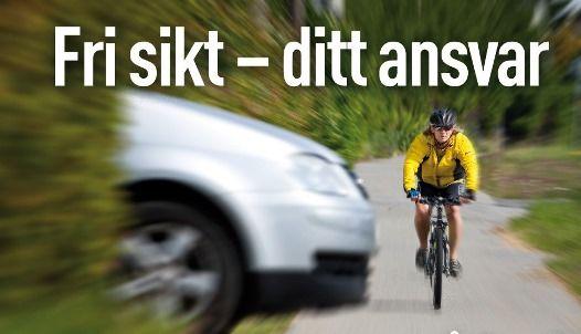 Fri sikt sykkelsti