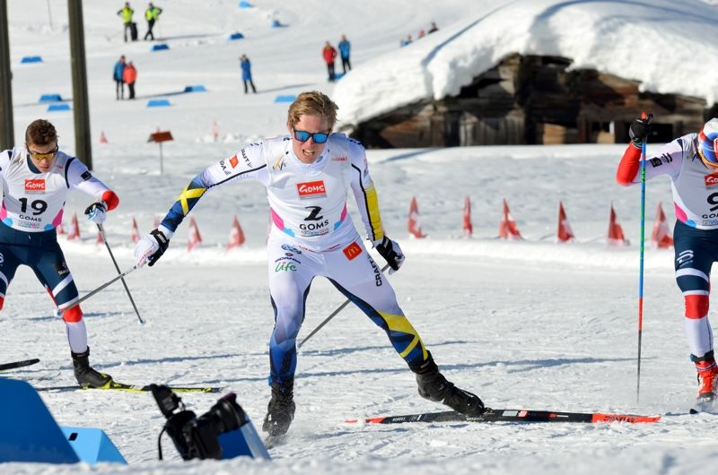 Axel Aflodal, här vid JVM där han hade andra tid på sprintprologen, och brorsan Gustav byter klubb till Offerdals SK inför kommande säsong.