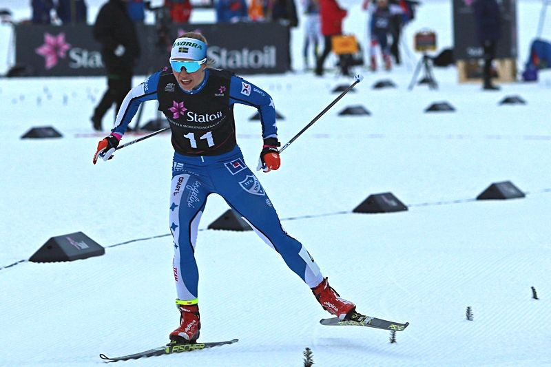 IFK Umeås Jonna Sundling var bästa svenska åkare i Skandinaviska cupen i vintras. Jonna slutade trea i totalen. Nu är programmet för kommande vinter spikat. FOTO: Norges skidförbund.