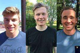 Lovande trion Eric Rosjö, Axel Ekström och Eddie Edström förstärker IFK Mora SK inför kommande vinter. FOTO: IFK Mora SK.