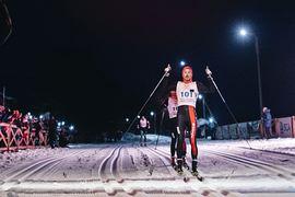 Andreas Nygaard vid målgången av Nordenskiöldsloppet 2018. Kan någon utmana honom i år. FOTO: Marcus Olsson/Red Bull Content Pool.