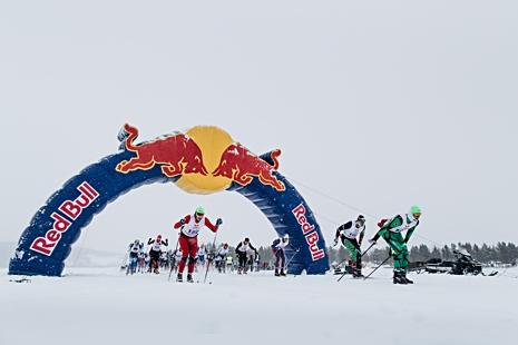 Starten på Nordenskiöldsloppet 2018. FOTO: Marcus Olsson/Red Bull Content Pool.