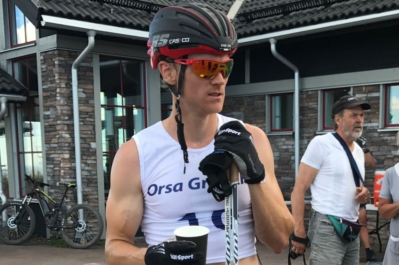Jens Eriksson vann Grönklitt Double Poling Hill Climb för andra året i rad. FOTO: Marcus Laggar.